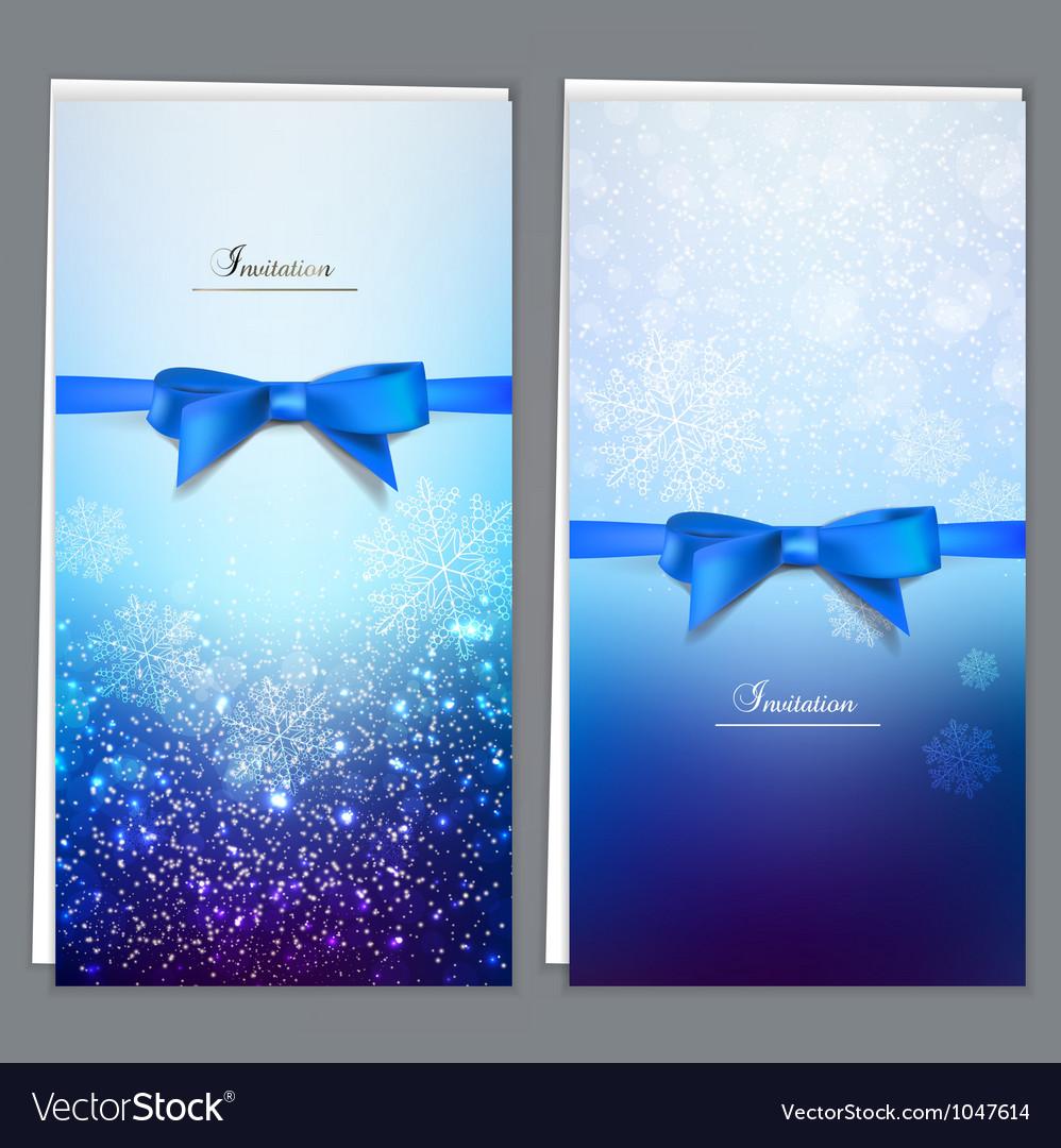 Elegant invitation cards template vector | Price: 1 Credit (USD $1)