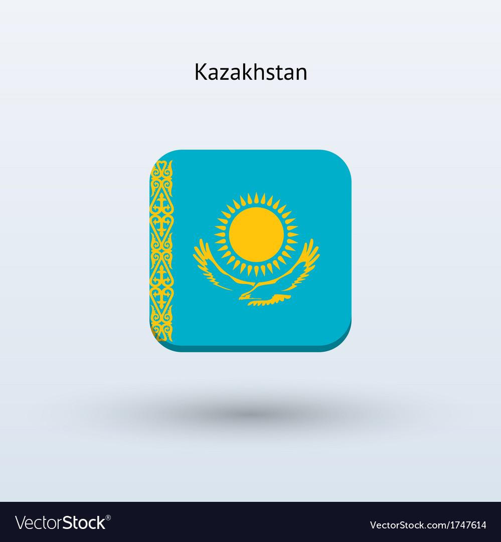 Kazakhstan flag icon vector | Price: 1 Credit (USD $1)