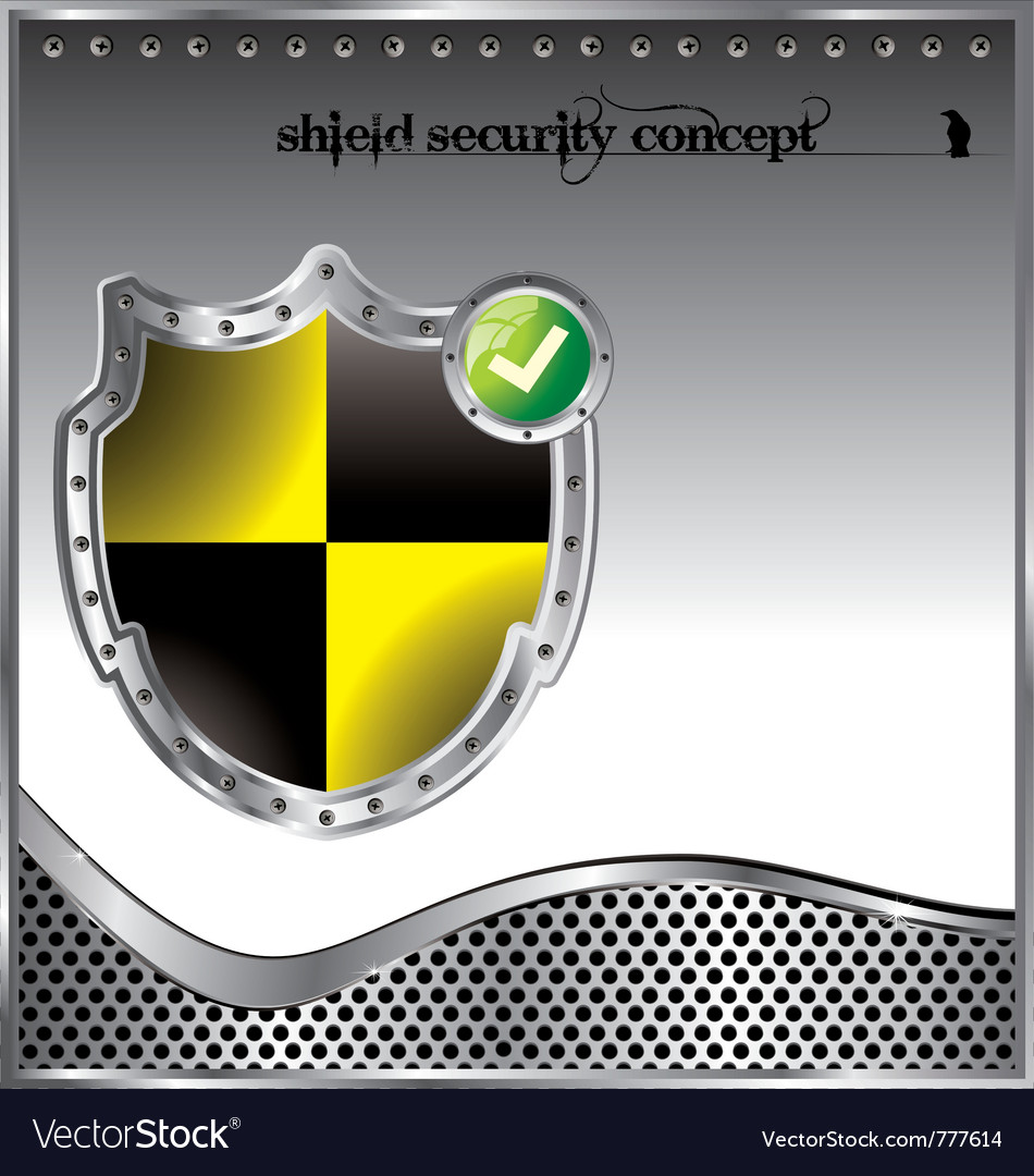 Shield security concept background vector | Price: 1 Credit (USD $1)