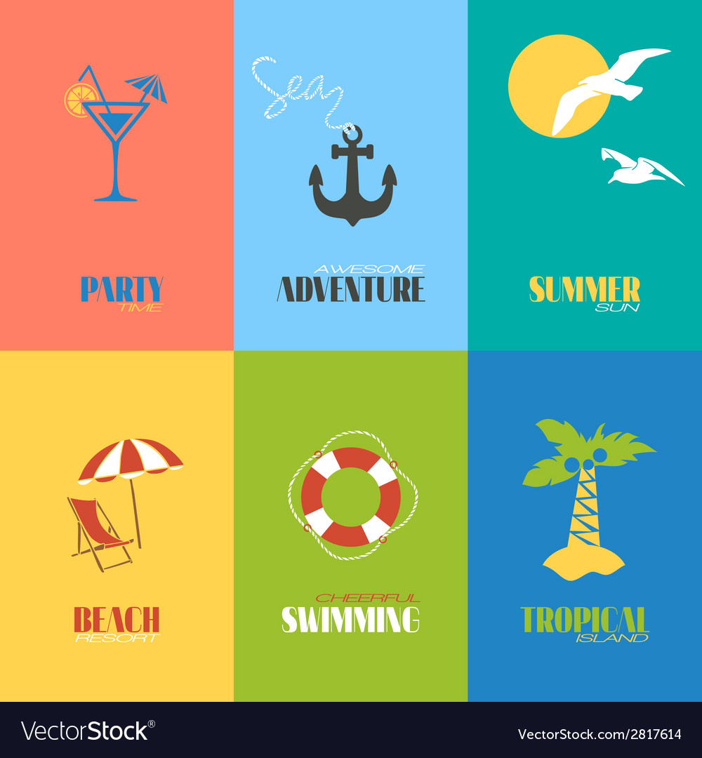 Summer time posters vector | Price: 1 Credit (USD $1)