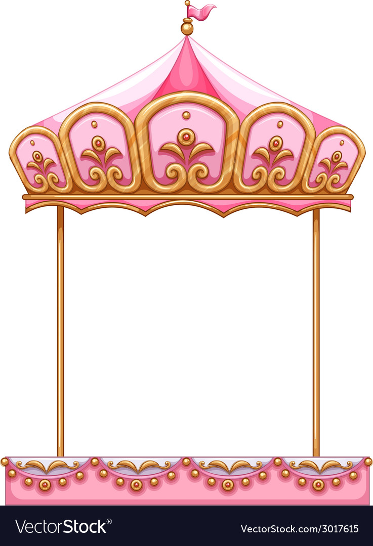 A carousel ride without a horse vector | Price: 1 Credit (USD $1)
