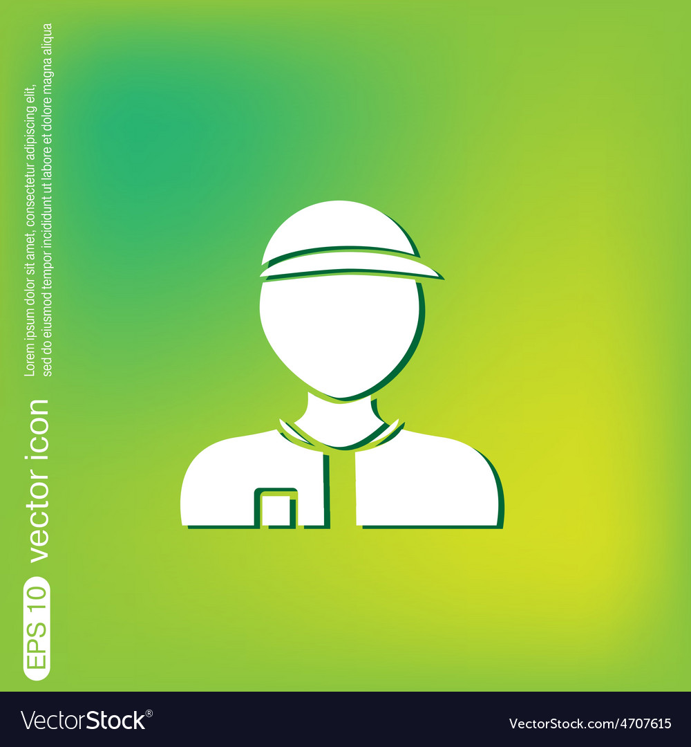 A male avatar picture a man icon image man wearing vector | Price: 1 Credit (USD $1)