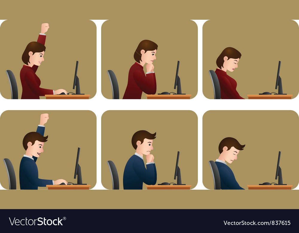 At work vector | Price: 3 Credit (USD $3)