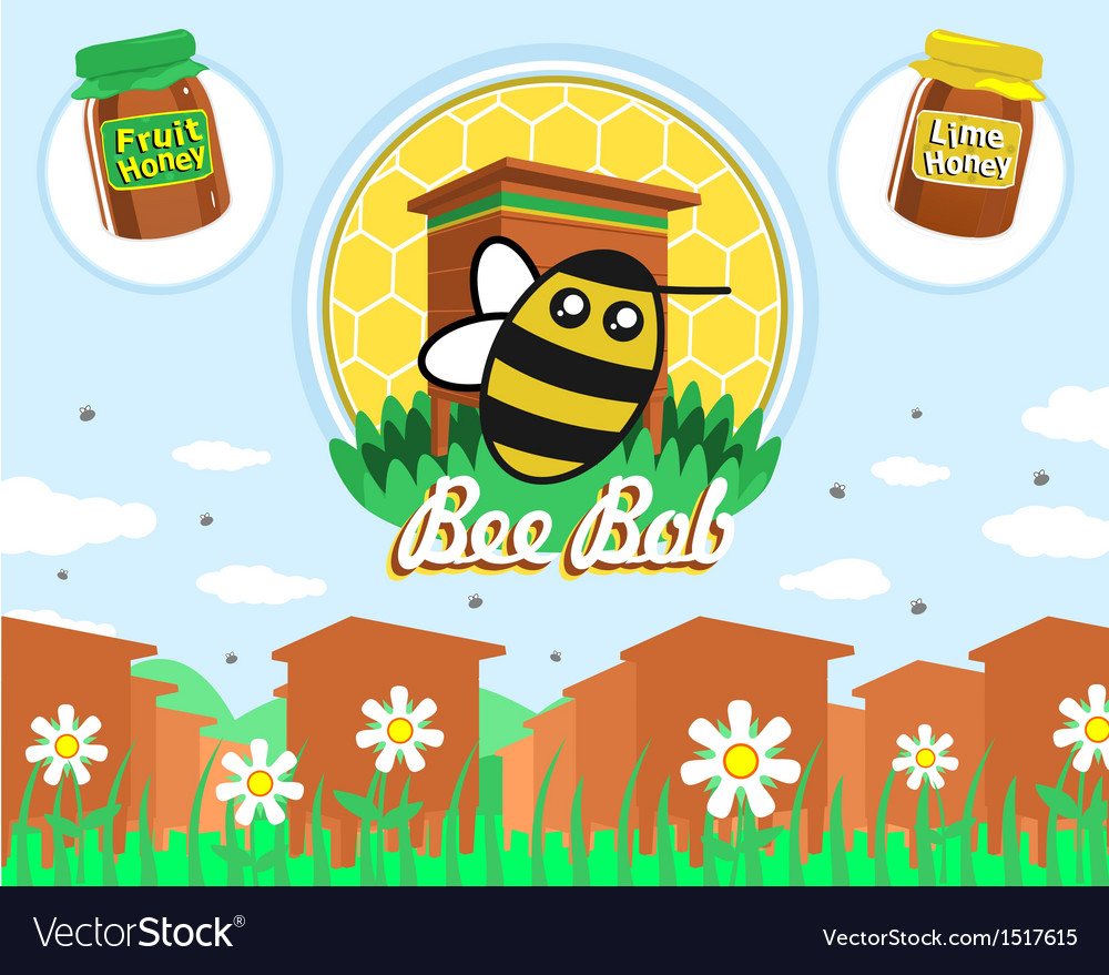 Bee bob vector | Price: 1 Credit (USD $1)