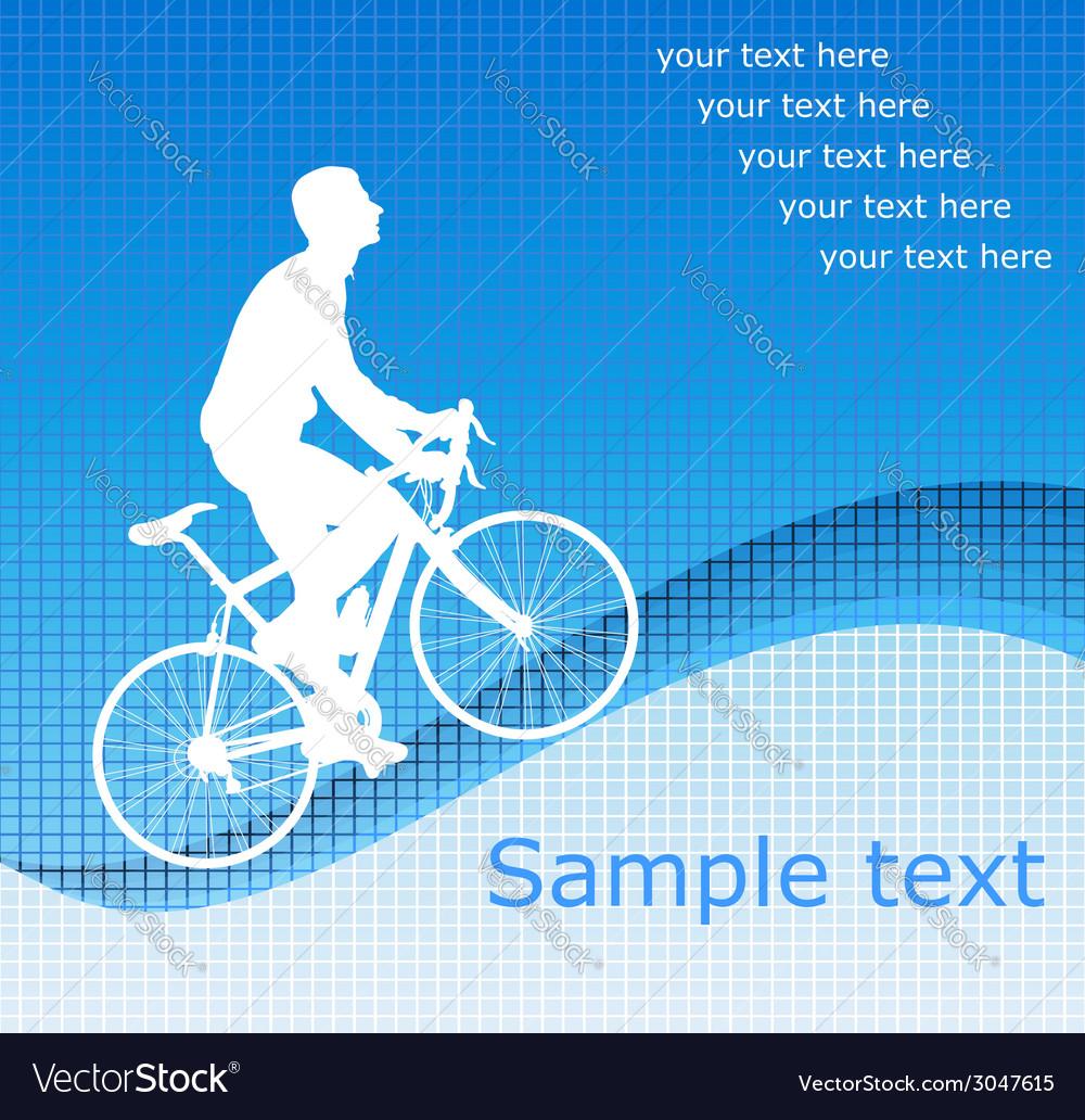 Bicyclist vector | Price: 1 Credit (USD $1)
