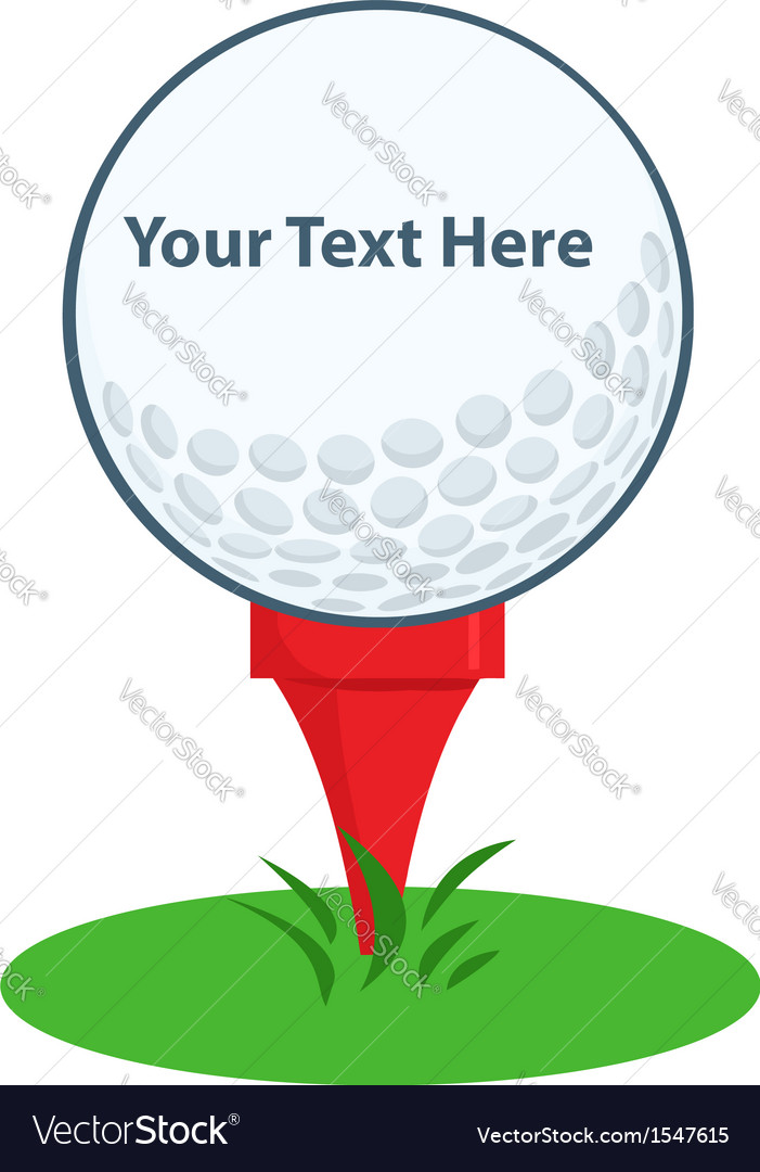 Golf ball logo vector | Price: 1 Credit (USD $1)
