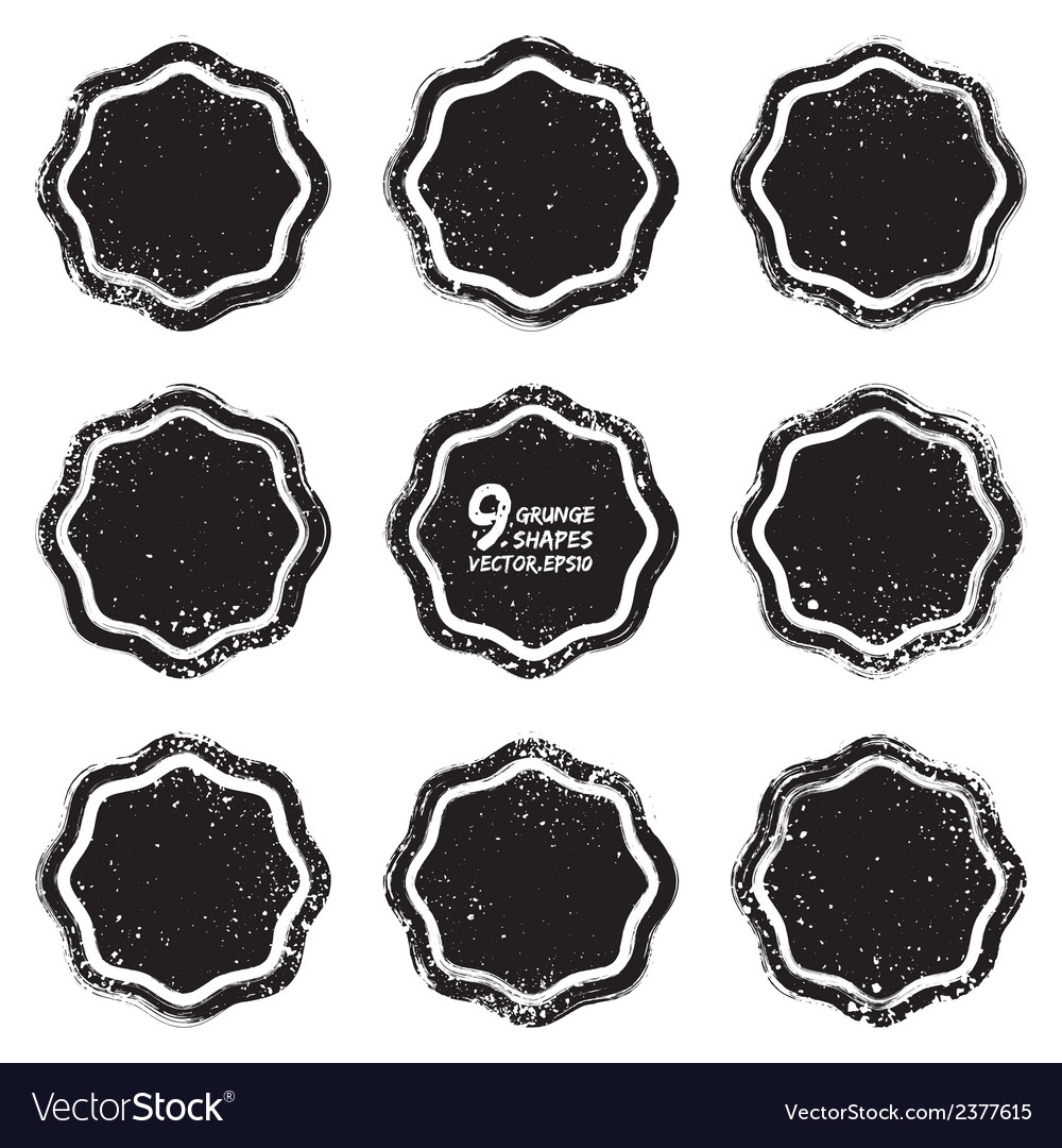Grunge abstract textured badges vector | Price: 1 Credit (USD $1)