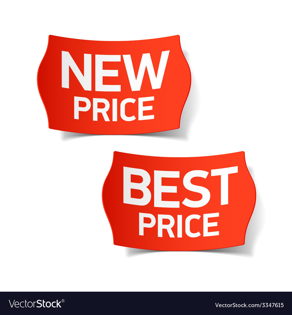 New and best price labels vector | Price: 1 Credit (USD $1)