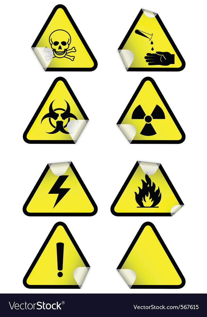 Set chemical warning signs vector | Price: 1 Credit (USD $1)