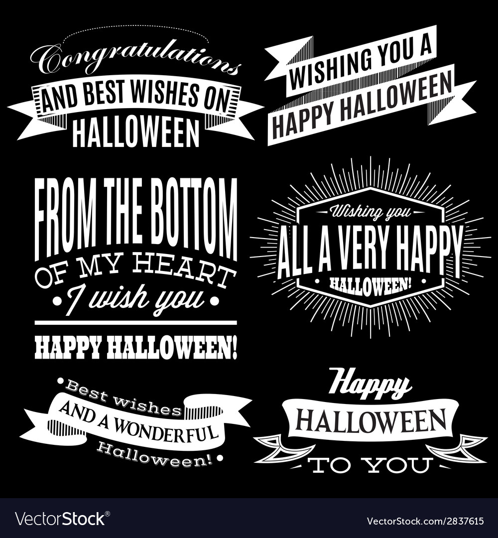 Set of labels for halloween holiday vector | Price: 1 Credit (USD $1)