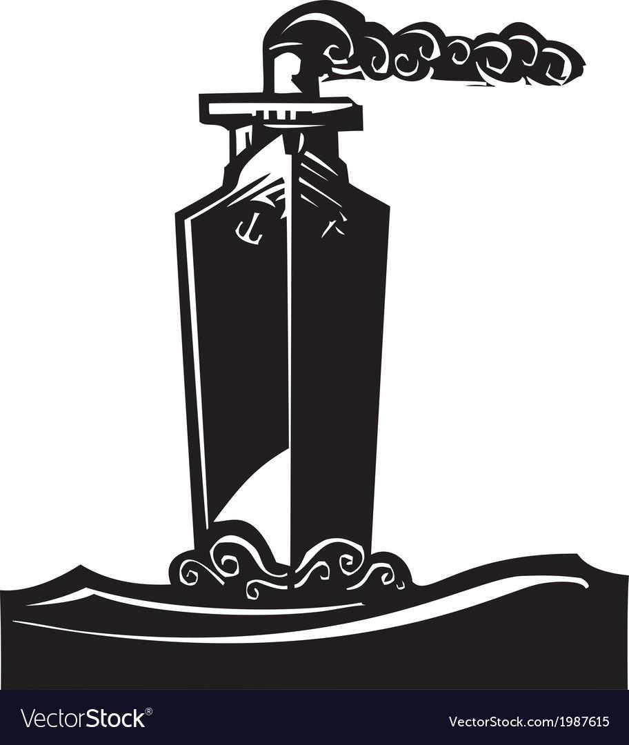 Tall ship vector | Price: 1 Credit (USD $1)