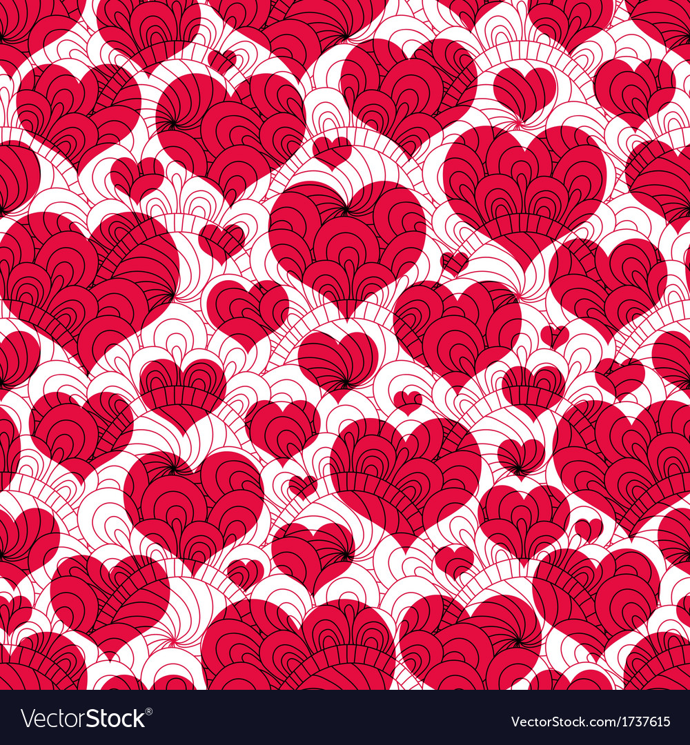 Valentine background with red hearts vector | Price: 1 Credit (USD $1)