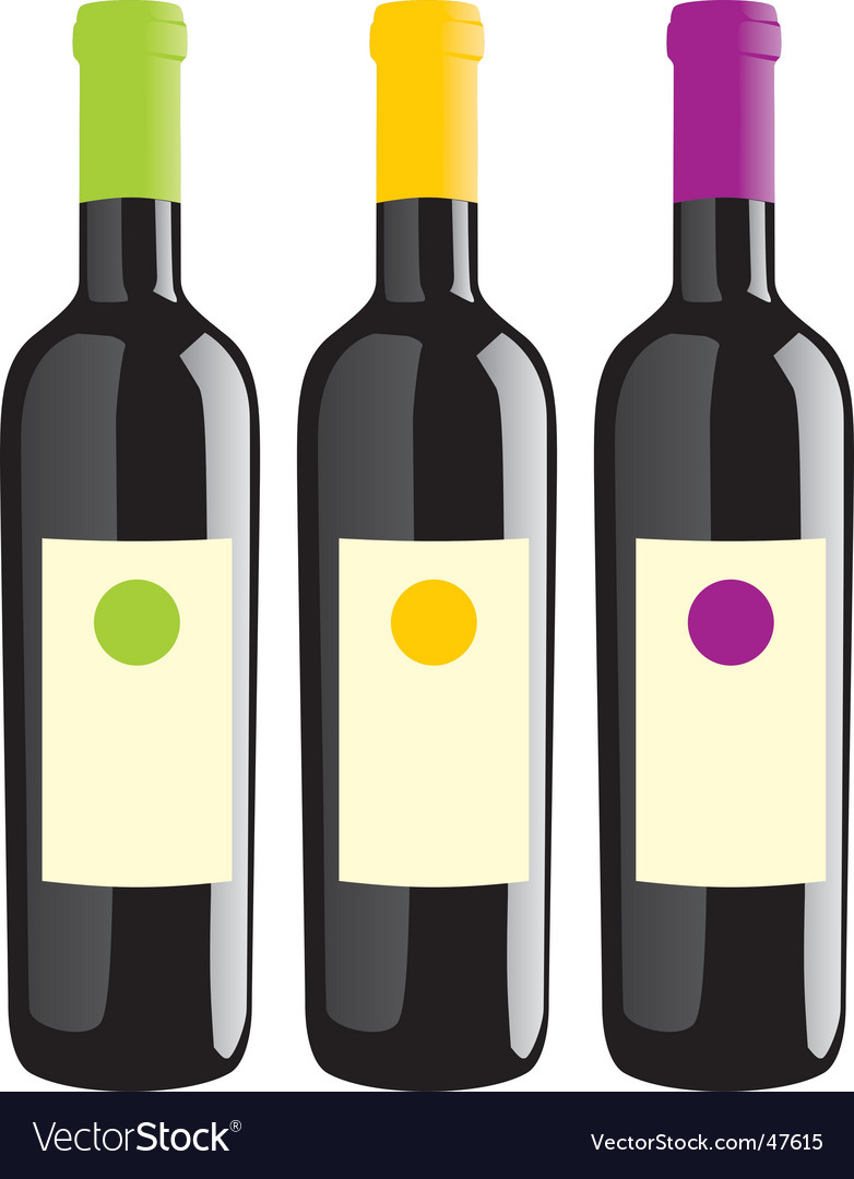 Wine bottles set vector | Price: 1 Credit (USD $1)