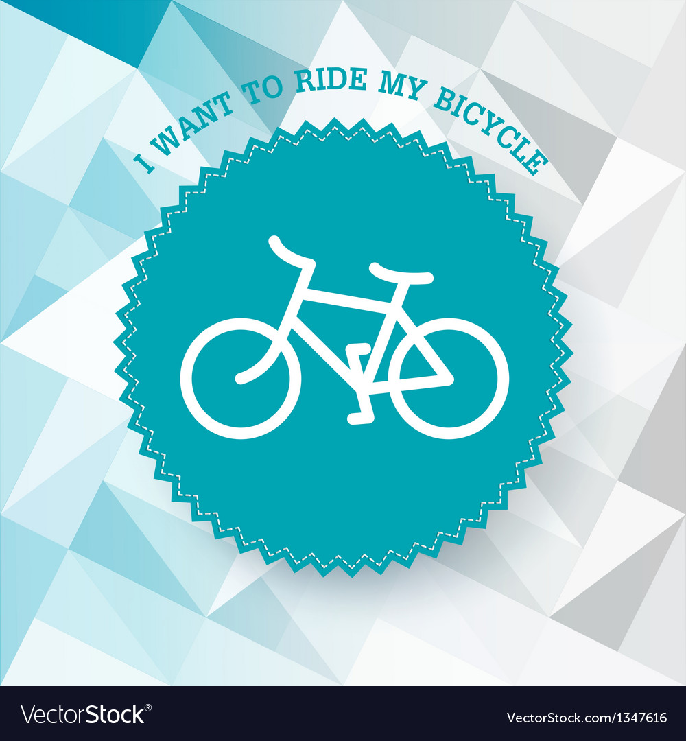 Bicycle poster vector | Price: 1 Credit (USD $1)