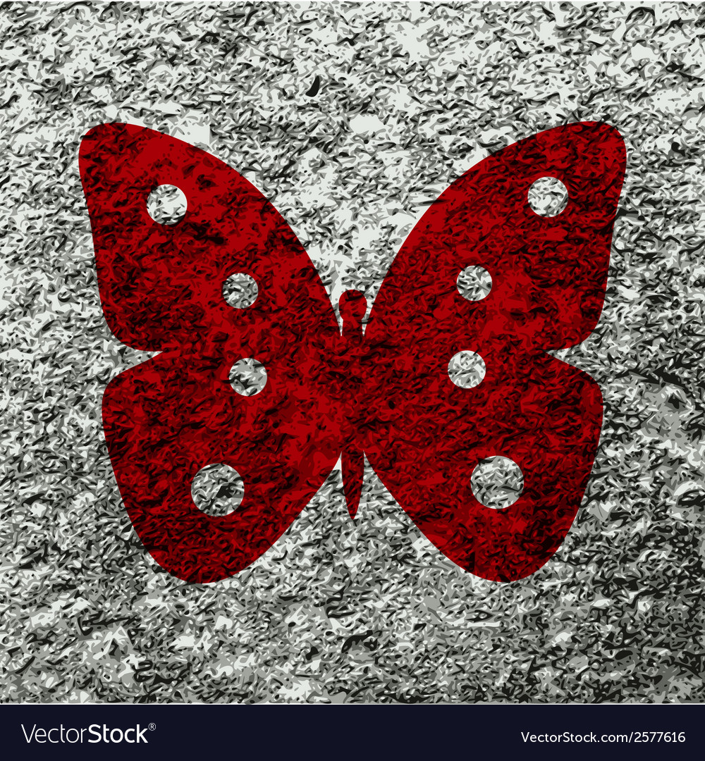 Butterfly flat modern web button and space for vector | Price: 1 Credit (USD $1)