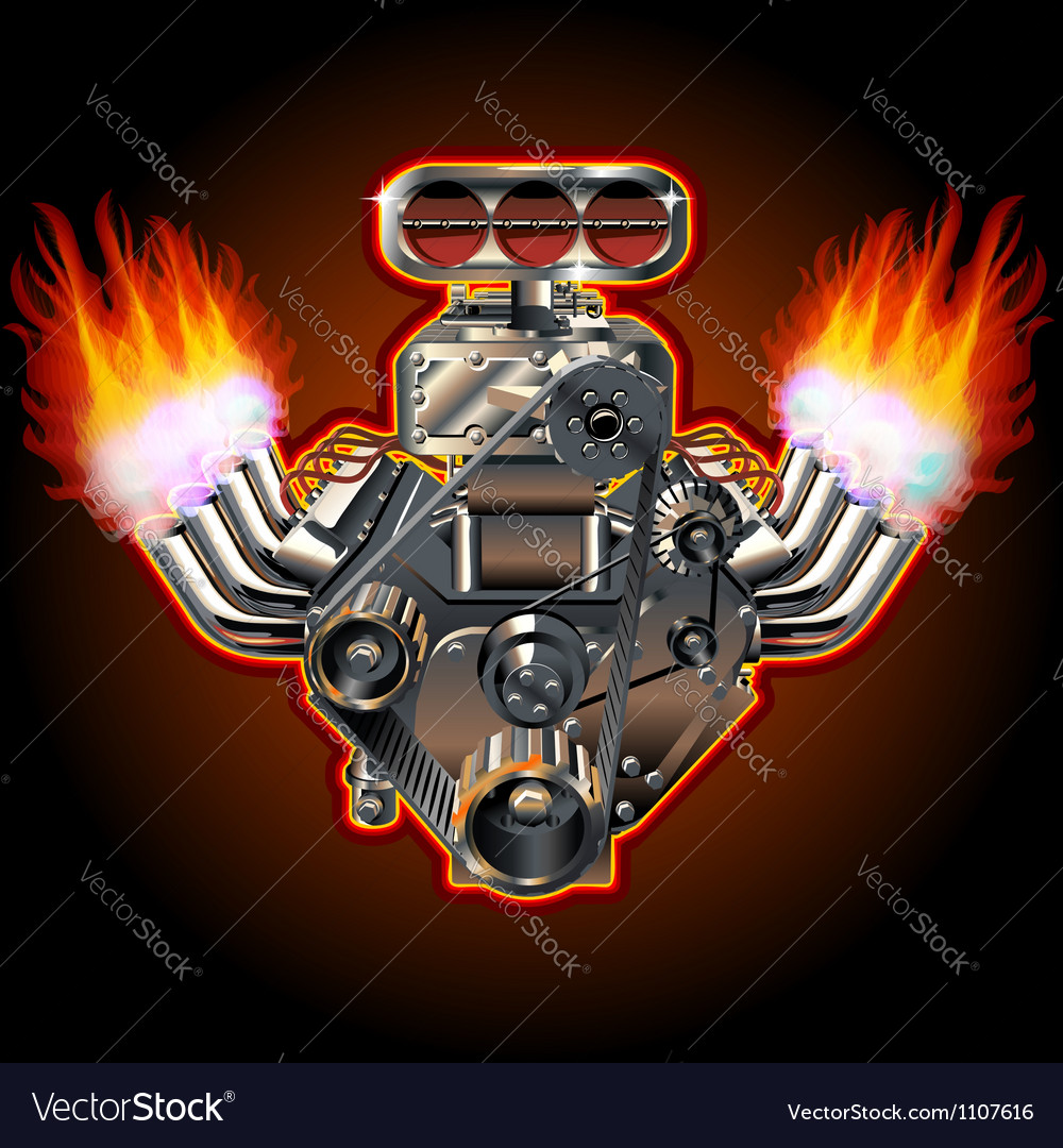 Cartoon turbo engine vector | Price: 3 Credit (USD $3)