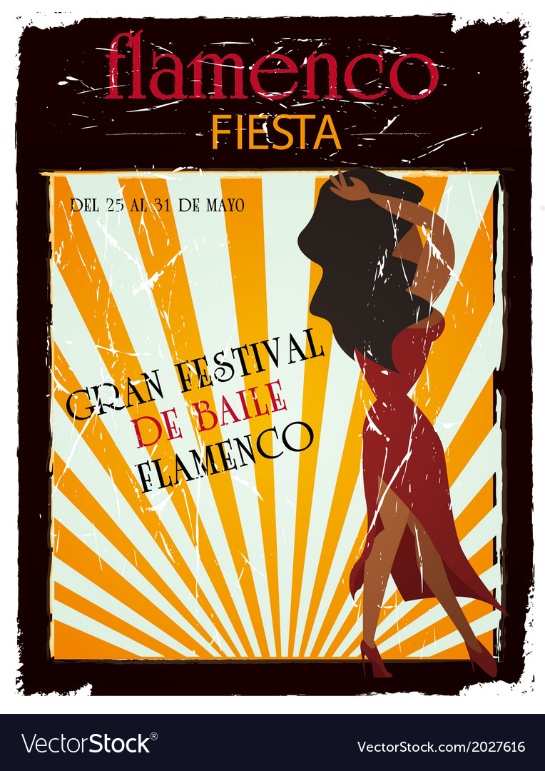 Flamenco poster vector | Price: 1 Credit (USD $1)