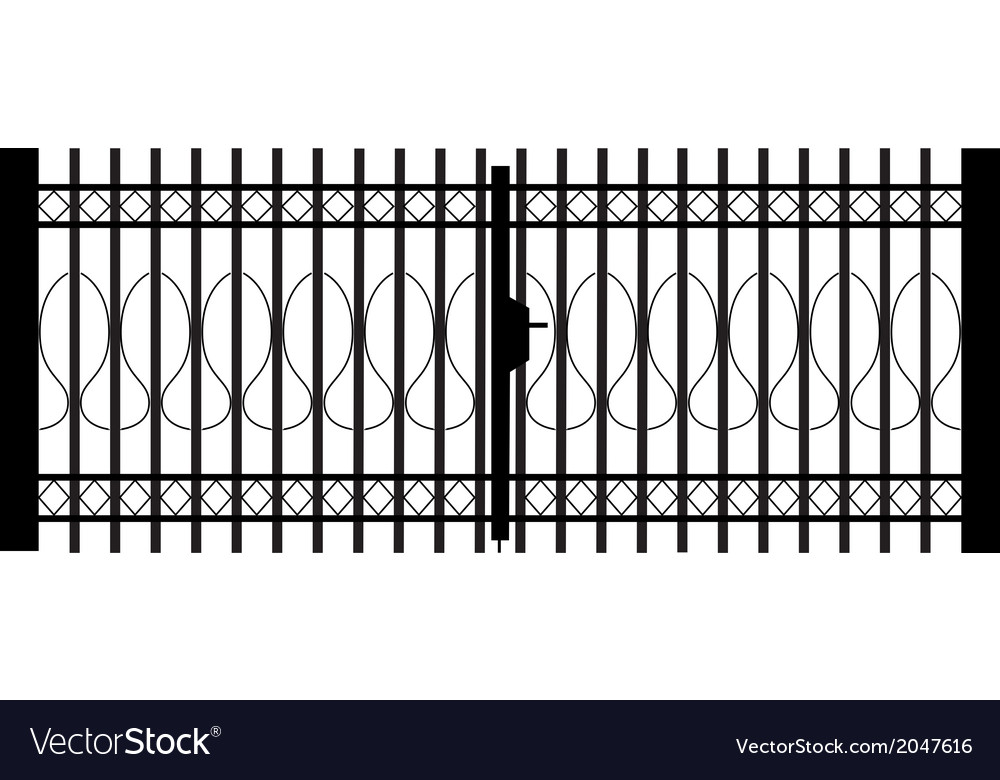 Gate silhouette vector | Price: 1 Credit (USD $1)
