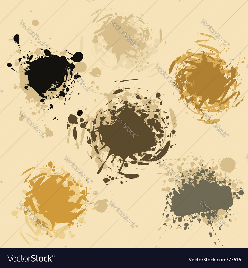 Grunge blobs vector | Price: 1 Credit (USD $1)