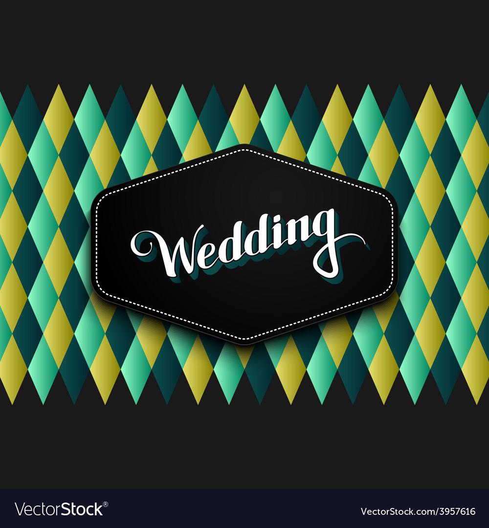 Handwritten wedding retro label vector | Price: 1 Credit (USD $1)