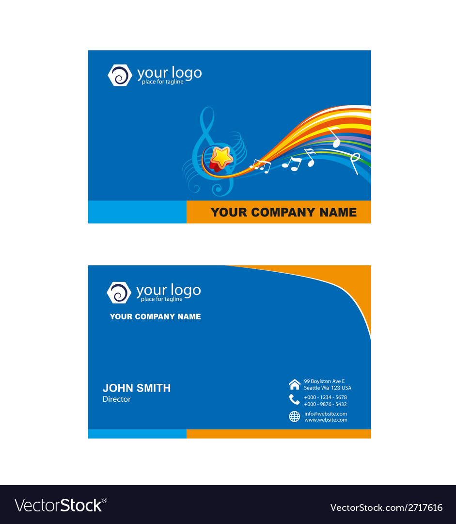 Music shop name card vector | Price: 1 Credit (USD $1)