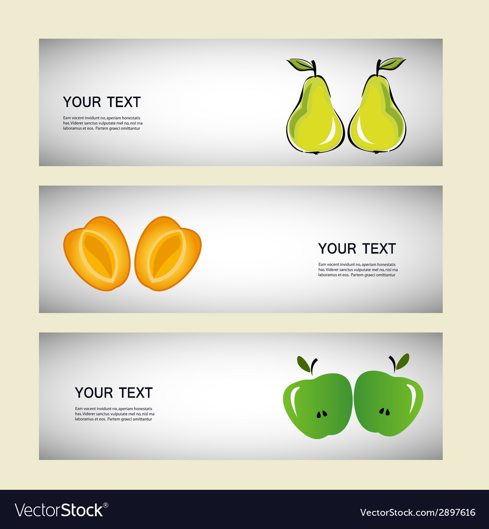 Set of fruits fruit trees design vector | Price: 1 Credit (USD $1)