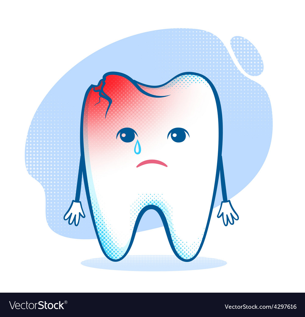 Tooth character vector | Price: 1 Credit (USD $1)