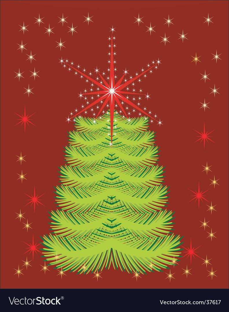 Abstract background with holiday tree vector | Price: 1 Credit (USD $1)