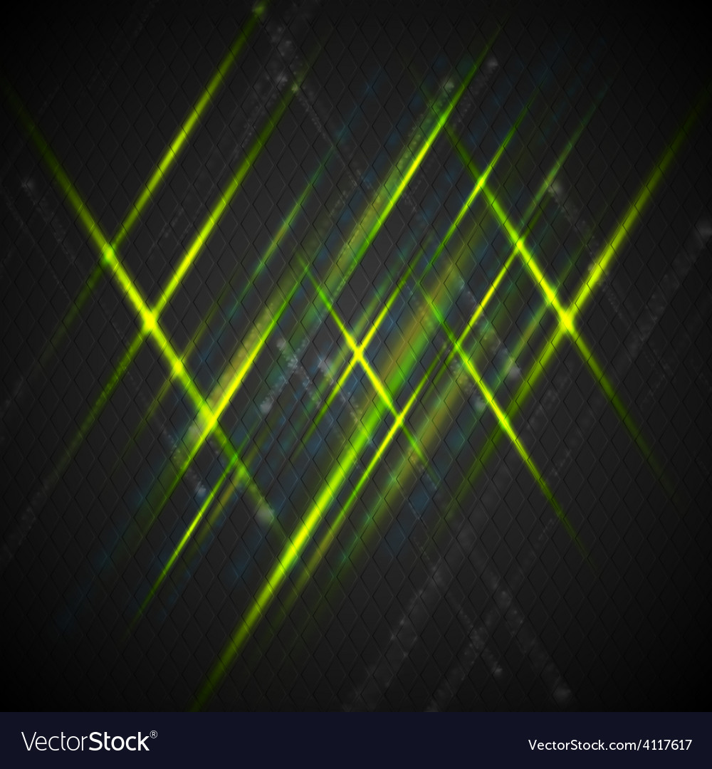 Green shiny light on dark background vector | Price: 1 Credit (USD $1)