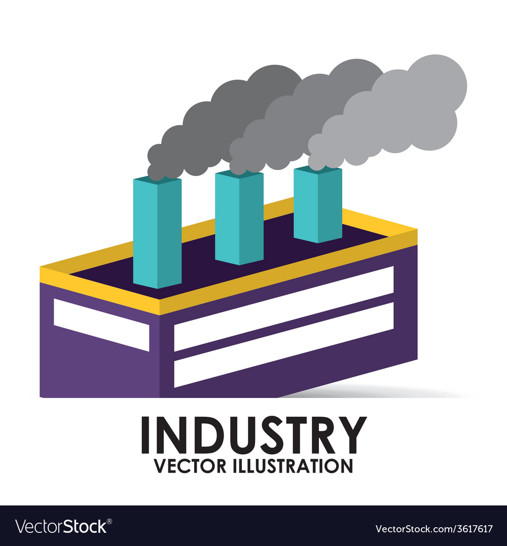 Industry building vector | Price: 1 Credit (USD $1)