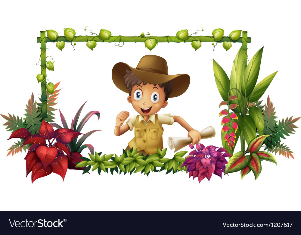 The jungle boy vector | Price: 1 Credit (USD $1)