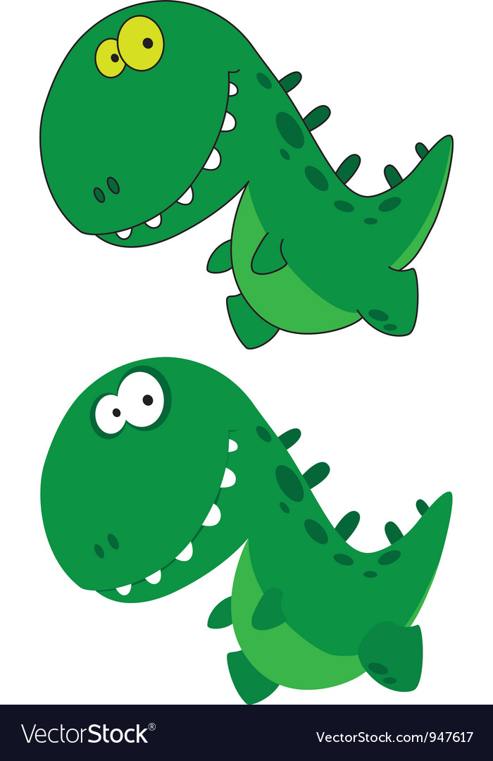 Little funny dino vector | Price: 1 Credit (USD $1)
