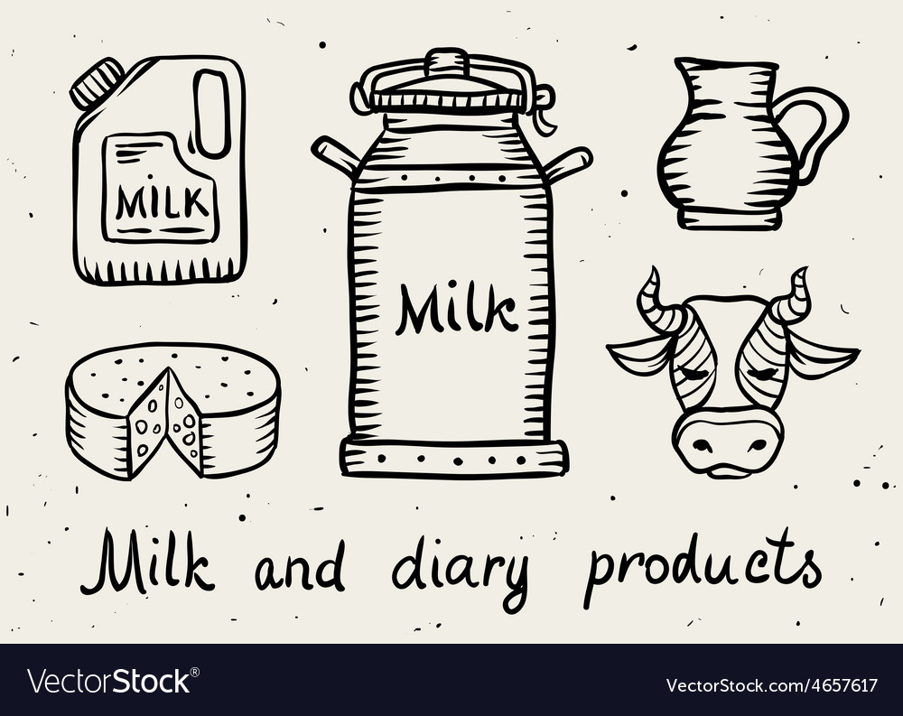 Milk and dairy products vector | Price: 1 Credit (USD $1)