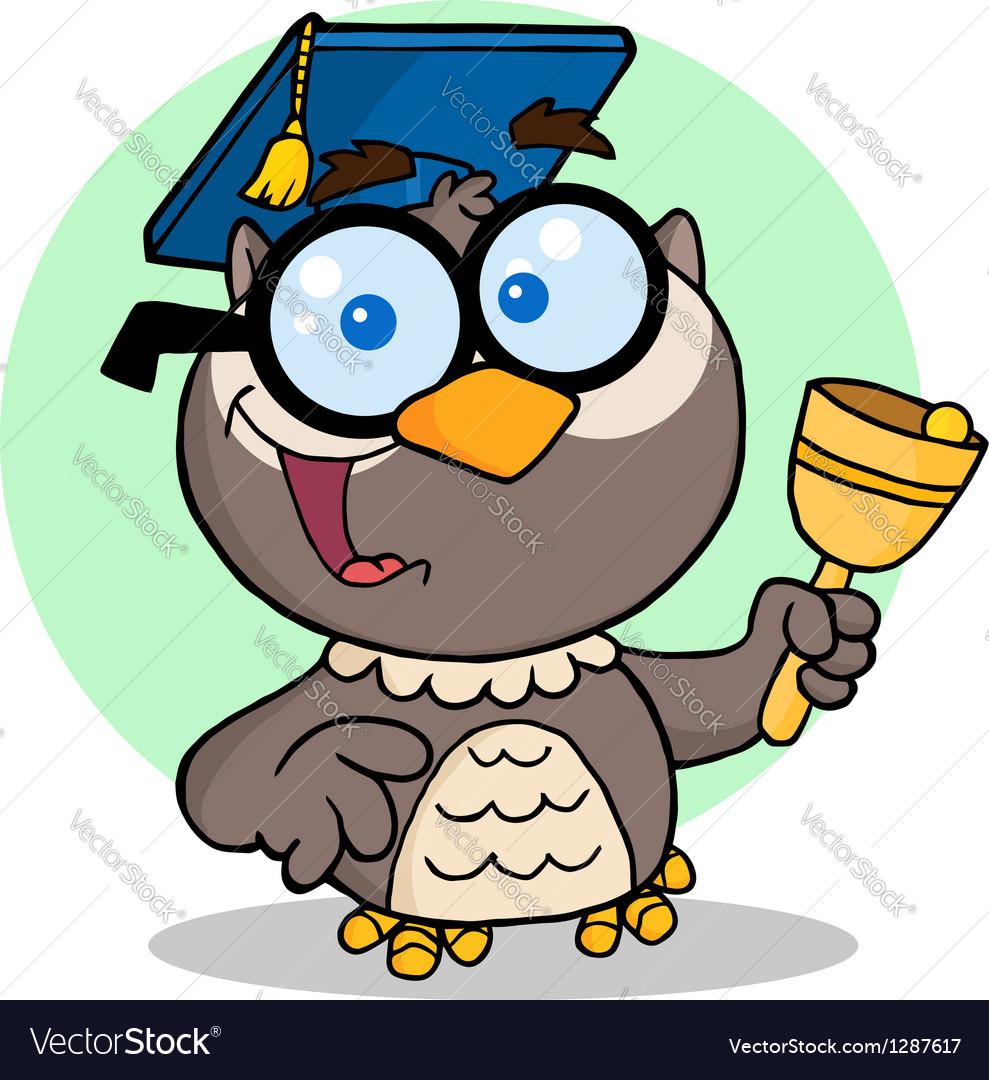 Owl teacher cartoon character vector   Price: 3 Credit (USD $3)