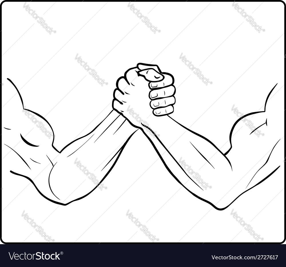 Powerful handshake vector | Price: 1 Credit (USD $1)