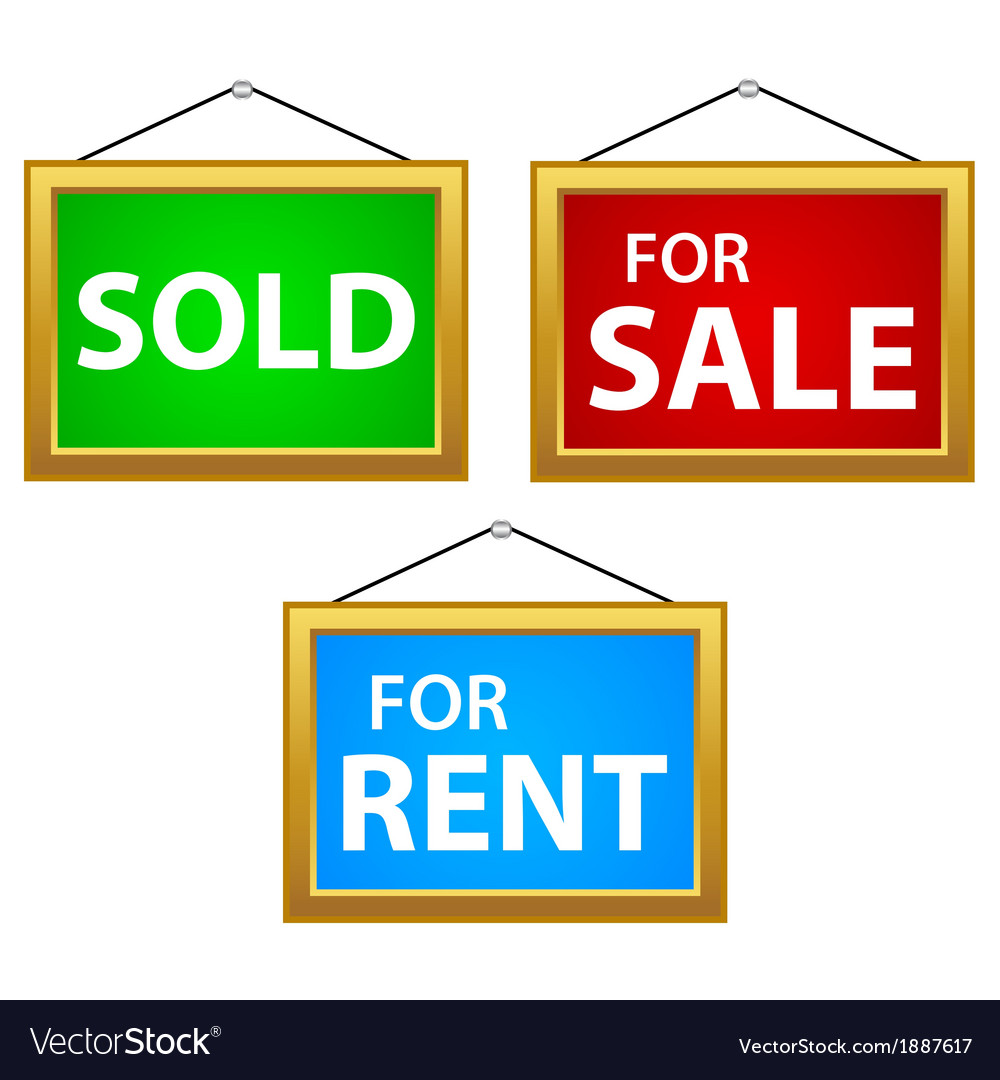 Property signs vector | Price: 1 Credit (USD $1)
