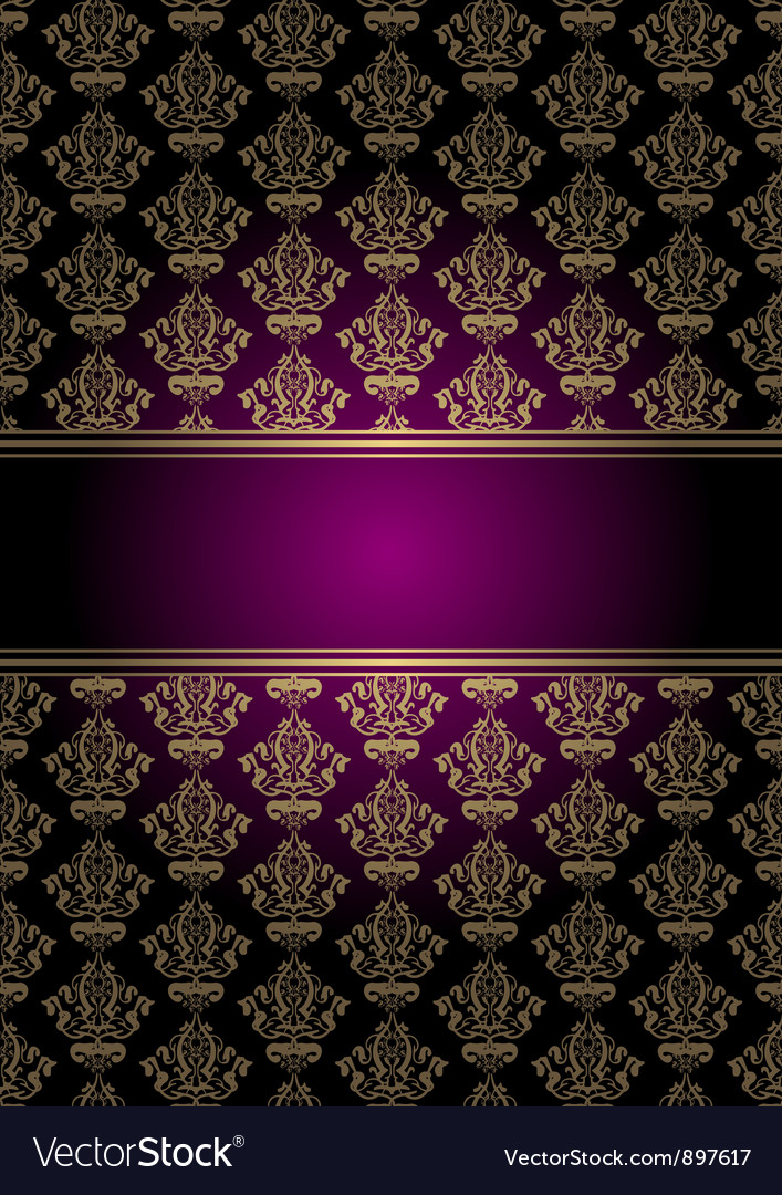 Purple and gold background vector | Price: 1 Credit (USD $1)