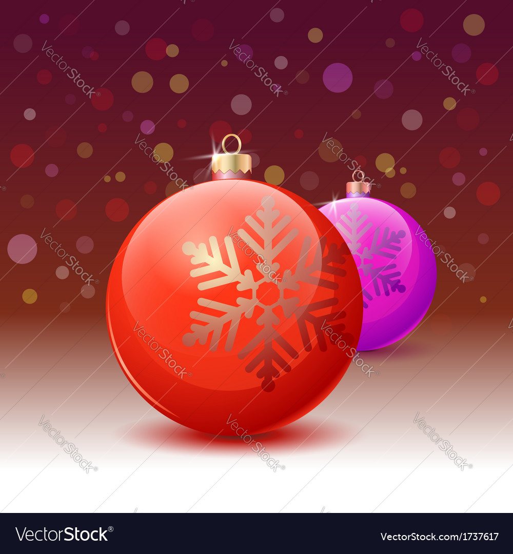 Red christmas ball over white background vector | Price: 1 Credit (USD $1)