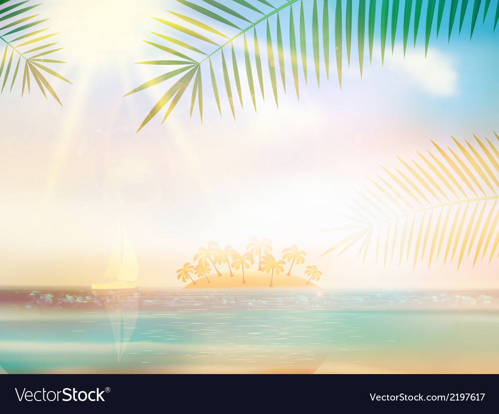 Sea beach for summer design template vector