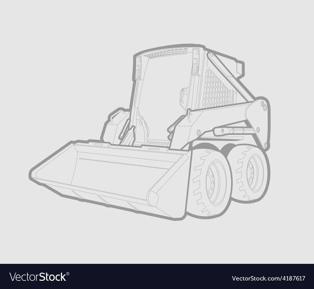 Skid loader vector | Price: 1 Credit (USD $1)
