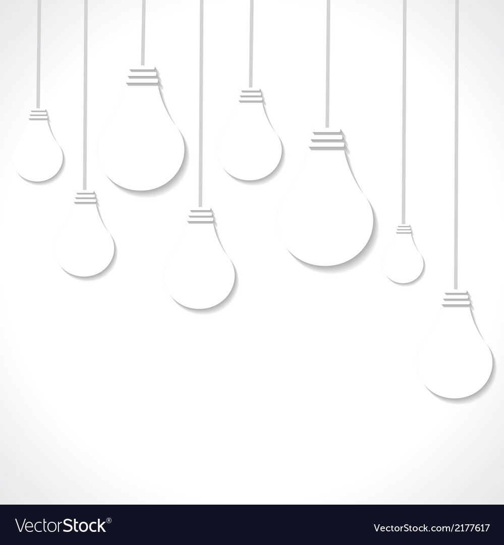 White bulb background vector | Price: 1 Credit (USD $1)