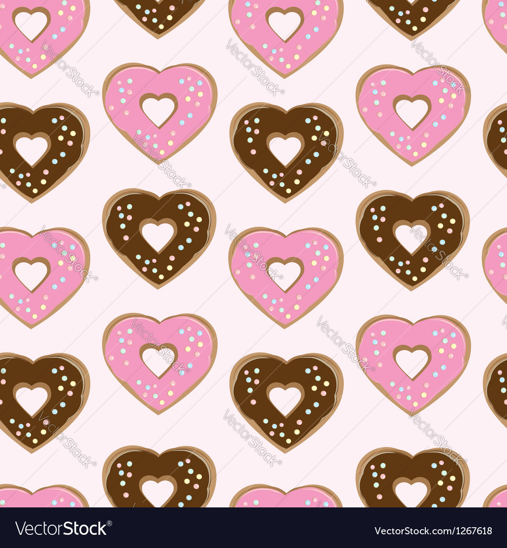 Assorted heart shaped doughnuts vector | Price: 1 Credit (USD $1)