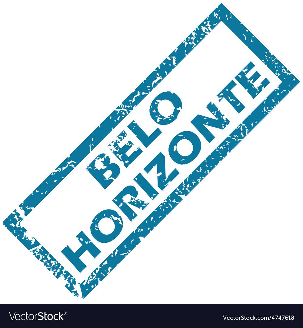 Belo horizonte rubber stamp vector | Price: 1 Credit (USD $1)