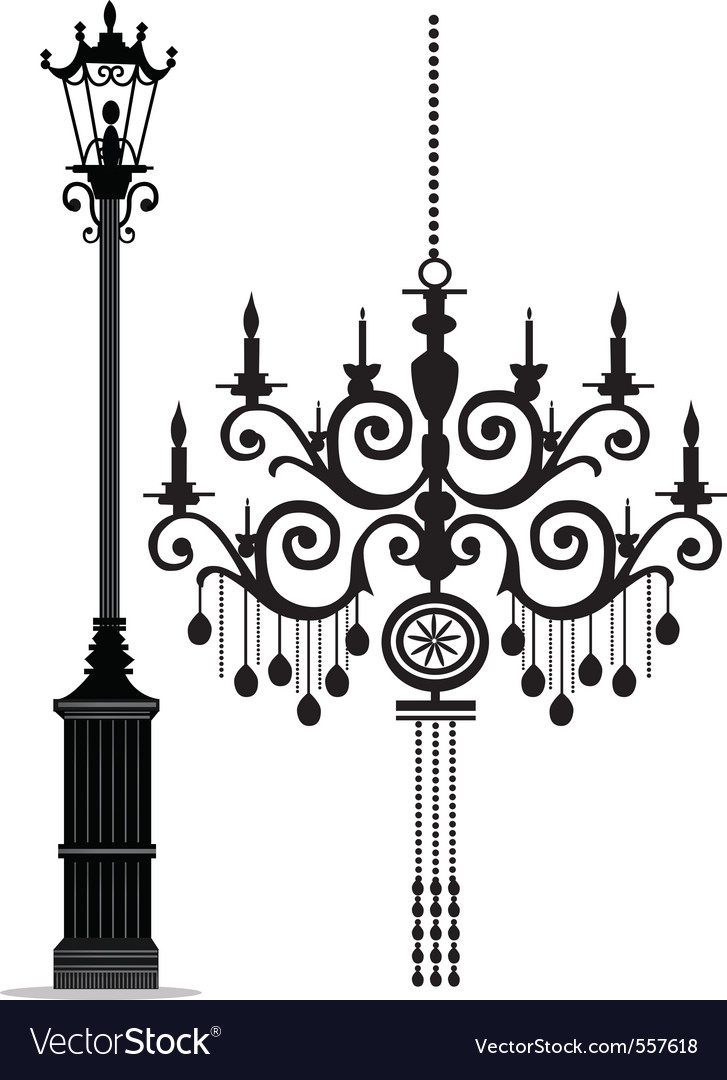 Black chandelier vector | Price: 1 Credit (USD $1)
