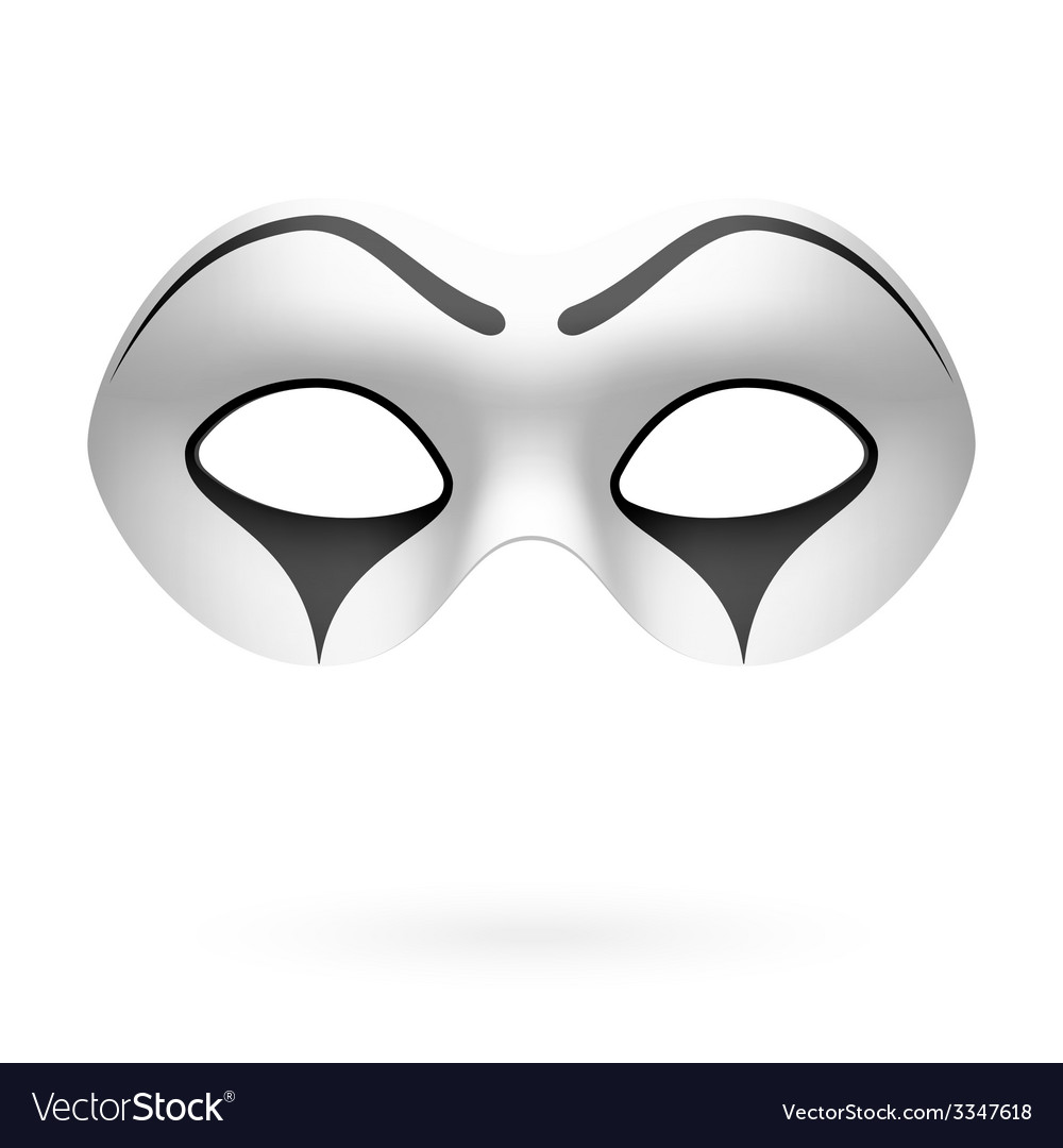 Clown mime mask vector | Price: 1 Credit (USD $1)
