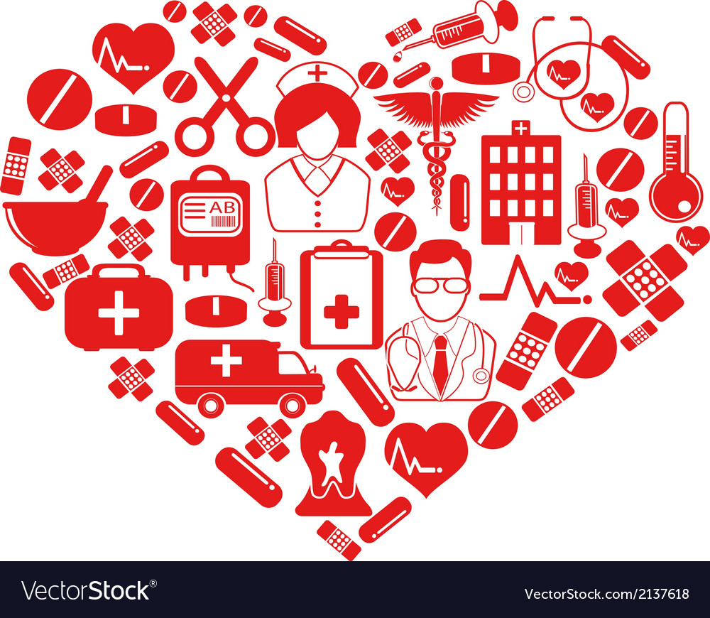Medical heart symbol vector | Price: 1 Credit (USD $1)