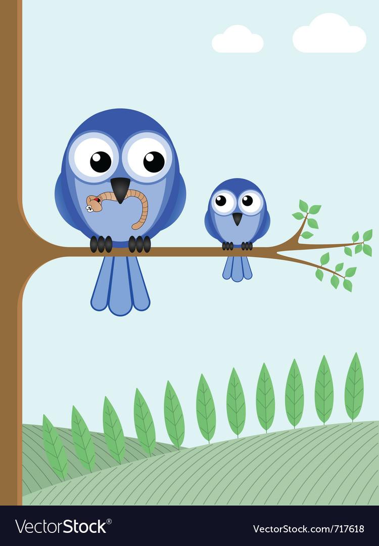 Mother bird vector | Price: 1 Credit (USD $1)