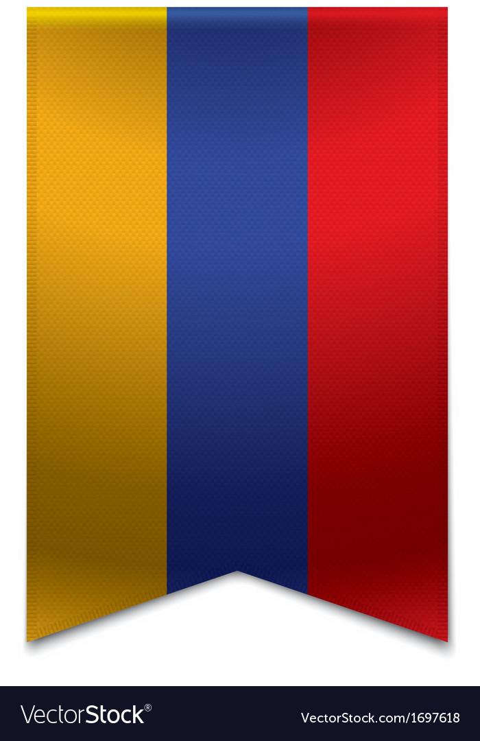 Ribbon banner - armenian flag vector | Price: 1 Credit (USD $1)