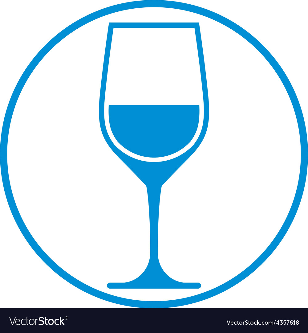 Winery theme classic wine goblet isolated on white vector   Price: 1 Credit (USD $1)
