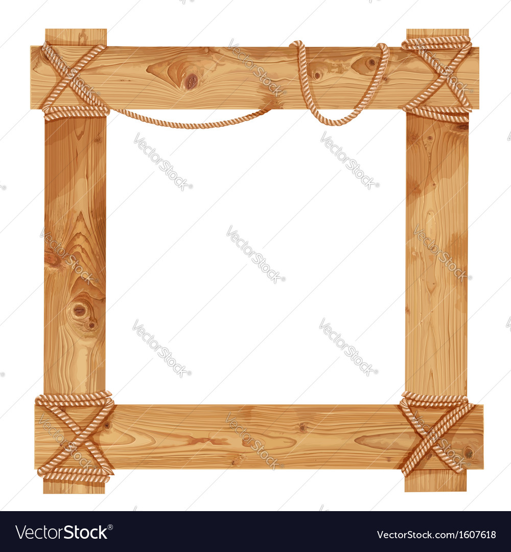 Wooden frame fastened together with ropes vector | Price: 3 Credit (USD $3)